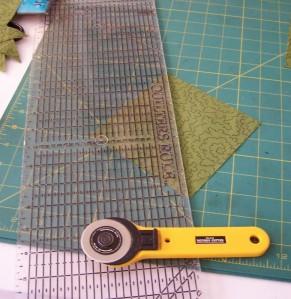 Cut the 5.25 block diagonally