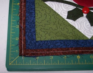 Inset view of the inner border and the filet and how they were applied