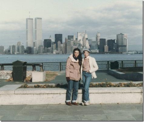 Bev & Pam in NY Nov. 1983