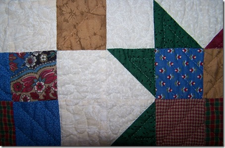 Quilting Detail - Oh Say Can You See, It's A Mystery...