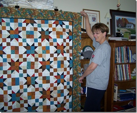 Shari & her quilt