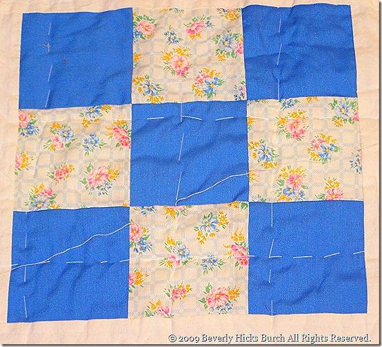 Pastel Nine Patch - Blue Detail
