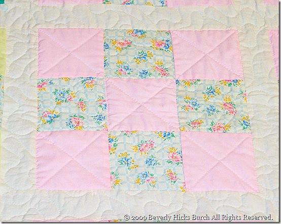 Pastel Nine Patch - Pink Detail