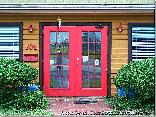 The friendly red doors
