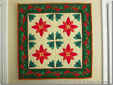Poinsettas wall hanging