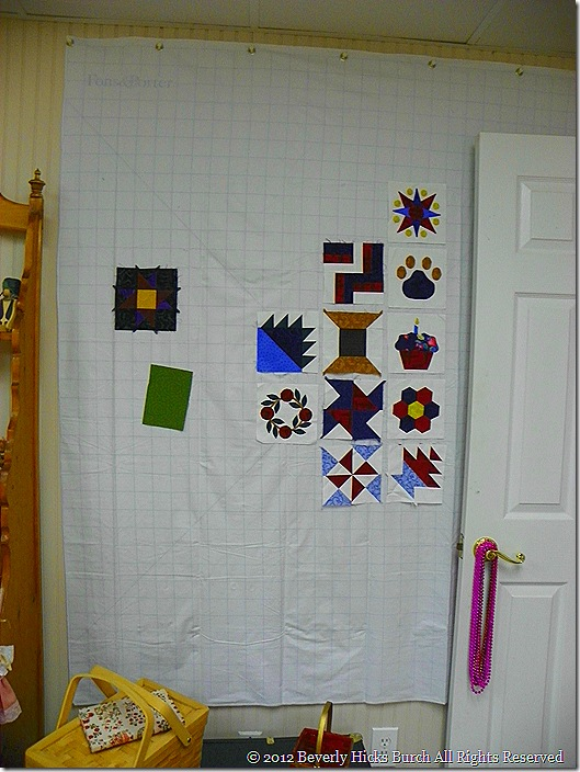 quilt room - design wall