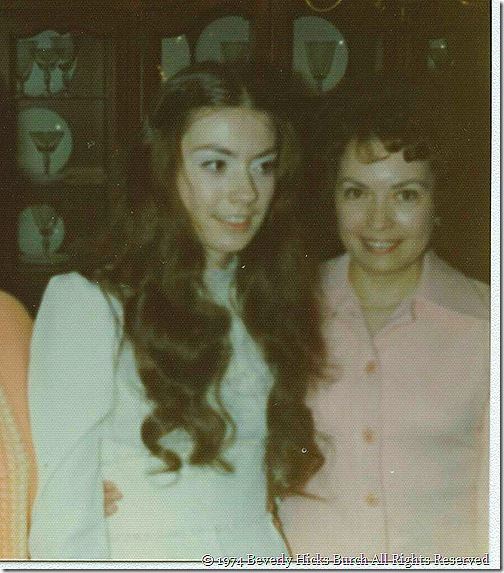 Bev & Momma on the Regrettable Day Nov. 1974